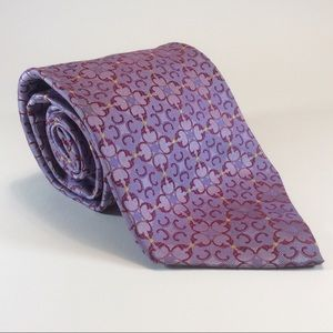 Nordstrom purple geometric silk tie 62x3.75